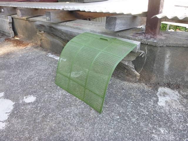 フィルターを日陰で乾燥